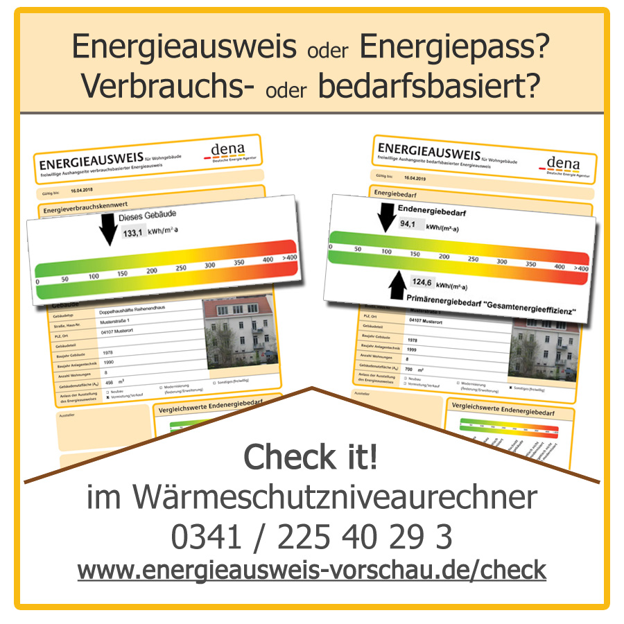 Energieausweis Energiepass Check